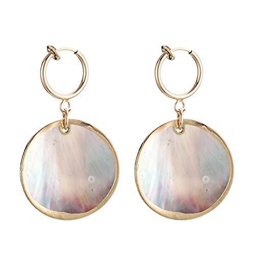 Floweworld Damen Chic Ohrringe Mode Ozean Serie Shell Ohrringe Temperament Shell Conch Ohrringe Ohrringe Weibliches Geschenk
