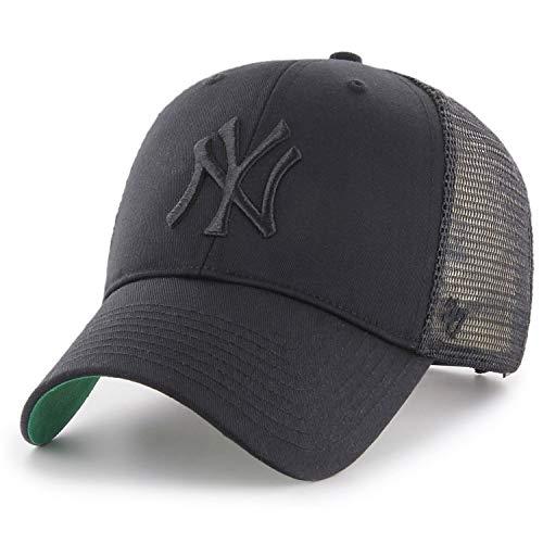 47Brand Branson Trucker MVP Snapback Cap NY Yankees BRANS17CTP-BKB Schwarz Schwarz, Size:ONE Size (Snapback 47brand)