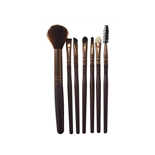 7 PCs Make Up Pinsel Set Pinselset Kosmetikpinsel Schminkpinsel Set Augenpinsel Foundation pinsel...