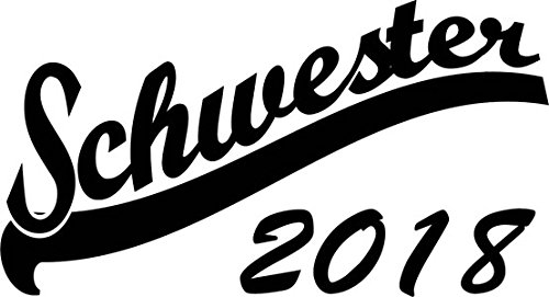 Mister Merchandise Herren Men T-Shirt Schwester 2018 Tee Shirt bedruckt Schwarz