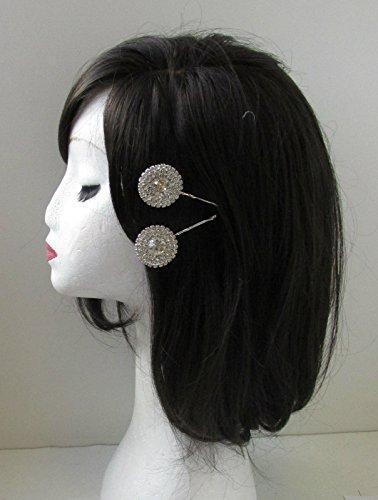 2 x Strass Argent Cheveux Clips Bobby broches de mariée Diamante Lames W06 * * * * * * * * exclusivement vendu par – Beauté * * * * * * * *
