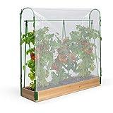 IDMarket - Serre à tomates spéciale Croissance kit Complet bâche + Support