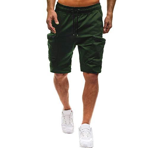 Sport Shorts Herren Sommer Strand Sea Surfen Kurze Hose Boxing Badeshorts Bermuda Running Fitness Gym Jogging Lightweight Training Shorts Qmber Beiläufige elastische Feste Baggy Taschen(AG,L) -