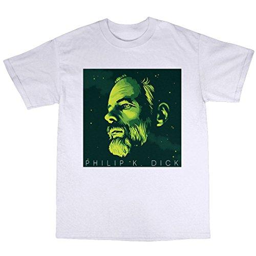 Philip K. Dick T-Shirt 100% Baumwolle Weiß