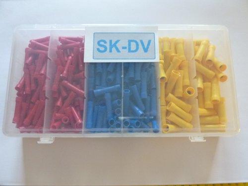 150 Stück Stoßverbinder Rundverbinder Sortiment SK-DV für Kabel 0,5mm² - 6 mm ²