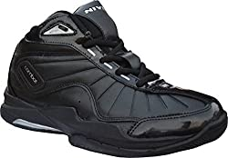 Nivia Black combat basketball shoes-6 indian