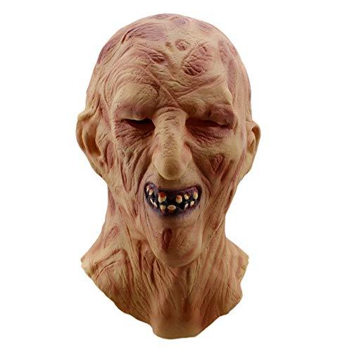 Vektenxi Premium Halloween Melt Gesichtsmasken Horror Zombie Latex Maske Erwachsene Kostüm Party Cosplay