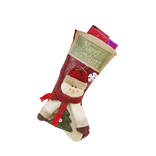 TOPmountain Frohe Weihnachten Anhänger Mini Beuter Socken Socke Packet Kinder Kinder Home Festival-Party Geschenke Dekor Ornament Stoff Nettes neues Jahr