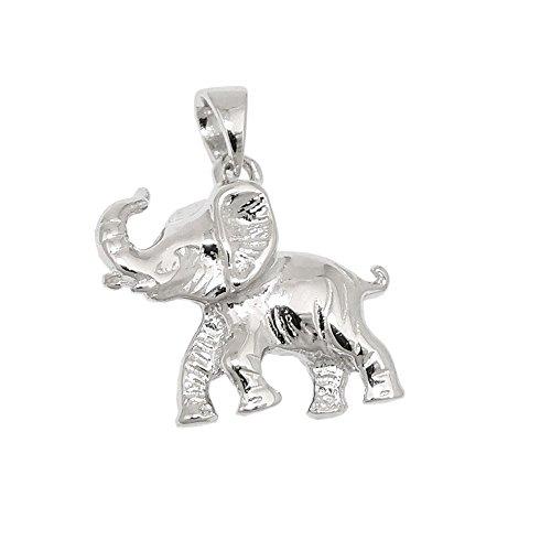 Colgante, Elefant brillante, plata 925