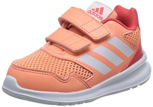 adidas Baby Mädchen Altarun Cloudfoam Sneaker, Orange Chacor/Ftwwht/Reacor, 23 EU