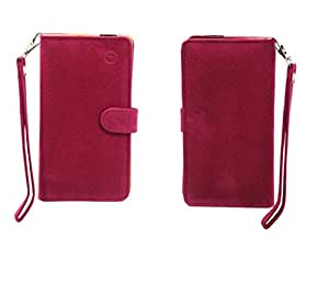 Jo Jo A9 Anya Leather Carry Case Cover Pouch Wallet Case For Allview A5 Quad Exotic Pink