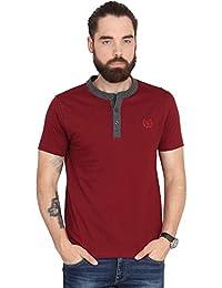 Urban Nomad Maroon Cotton T-shirt