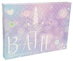 KreativeKraft Badebomben, Bath Bomb Set Für Kinder, 24er Badekugeln Für Mädchen Mit Einhorn, Damen Wellness Set , Perfekt Badezusatz Aromatherapie, Wunderschöne Geschenke Für Frauen
