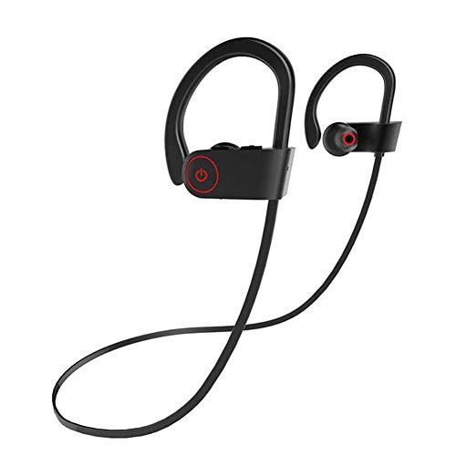 chlliacrow Sport Kopfhörer Subwoofer Bluetooth-Stereo-Headset JLA8 Kabellose wasserdichte Kopfhörer Sport-Bass-Bluetooth-Headset Stereo-Kopfhörer Black Line Dual-bud-stereo