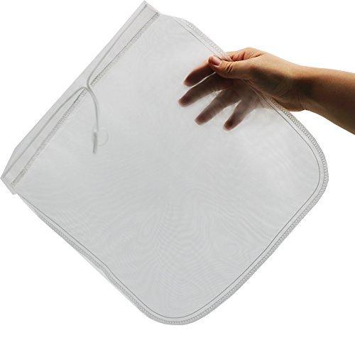 2 PC 12 X12 Nussmilchbeutel Lebensmittelqualität Mesh Nylon Besteckmotiv Sieb Filter Tasche für Kalten Brew Kaffee