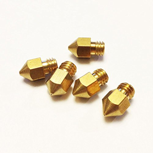 Pixnor 5pcs imprimante 3D 0.4 mm extrudeuse laiton buse Print Head pour 1.75 mm ABS PLA Printer(Golden)