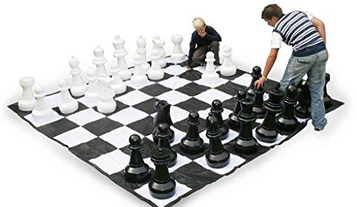 Preisvergleich Produktbild Garten Riesenschach -Kunststoff riesige Schachfiguren 60cm groß
