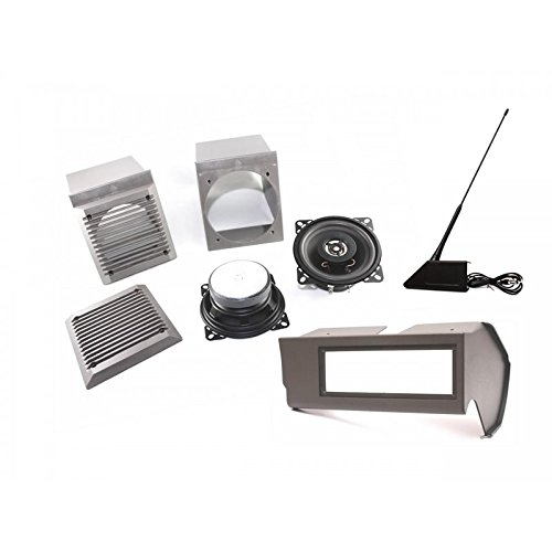 Kit supporto autoradio + Altoparlanti Altoparlante Antenna Panda 3porta grigio