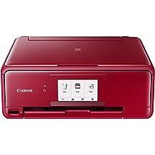 Canon PIXMA TS8152 4800 x 1200DPI Inyección de tinta A4 Wifi - Impresora multifunción (Inyección de tinta, 4800 x 1200 DPI, 100 hojas, A4, Impresión directa, Rojo)