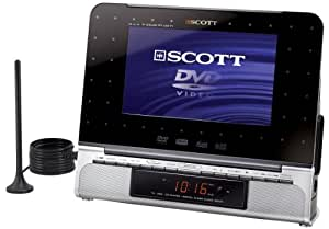 "Scott DTX i770 HTV Lecteur DVD portable 7"" 16/9 mpeg4 Xvid Tuner TNT"