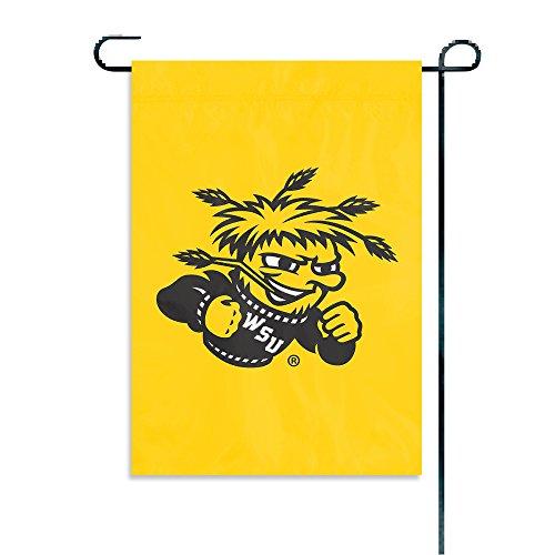 Party Animal NCAA College Garten-Flaggen, offizielles Lizenzprodukt, Damen Unisex-Erwachsene Herren, Wichita State Shockers, 15