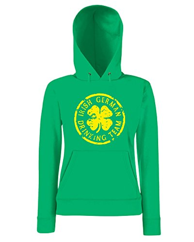 T-Shirtshock - Sweatshirt a capuche Femme TIR0100 irish german drinking team dark tshirt Vert