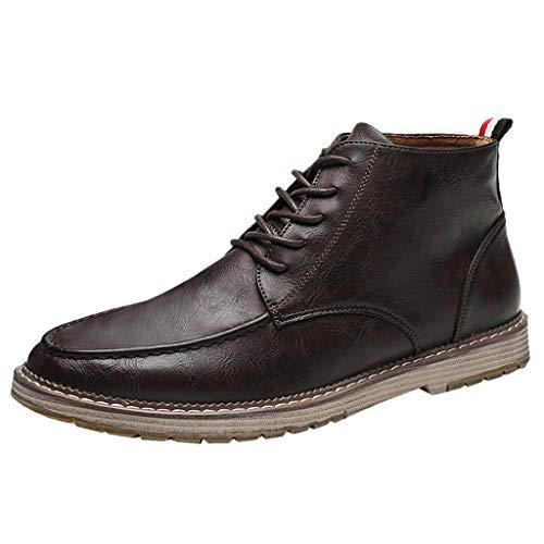 Knit Tall Boots (Herren Oakland Rise Klassische Stiefel Stiefel Englisch Kurzstiefel Studenten Tragen Lederschuhe Leder Stiefel Kampfstiefel Einsatzstiefel Mit MilitäR Bundeswehr Wandern Tactical Boot)