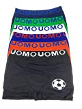 Laake 6 Jungen Unterhosen Kinder Unterwäsche Retro-Pants Boxer Shorts Uomo Sportwäsche Design: Fussball, Größe 104-116 (Design: Fussball, 104-116)