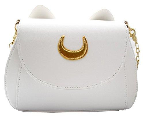 borsa gatto luna bianco - pidak shop