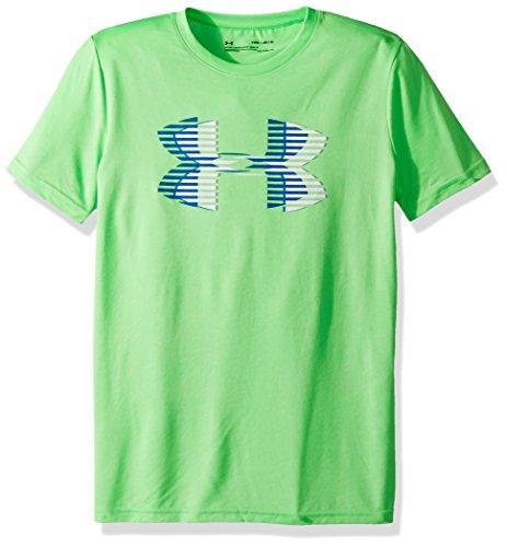 Solid Tech T-shirt (Under Armour Jungen Tech Big Logo Solid Tee Kurzarmshirt, Arena Green, YLG)