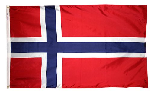Annin Flagmakers Nylon SolarGuard NYL-Glo Flagge Norwegen 3x5' Nicht zutreffend - Nyl Banner