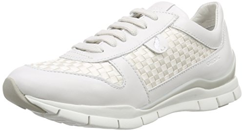 Geox Donna, Sneakers, D Sukie A, Bianco (Blanco (White)), 39