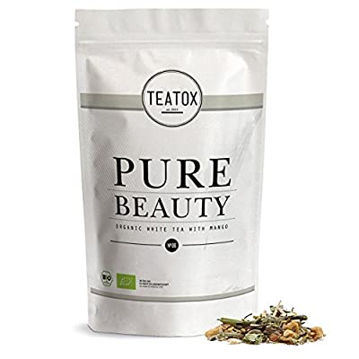 TEATOX Pure Beauty, thé blanc avec camomille, sachet de recharge