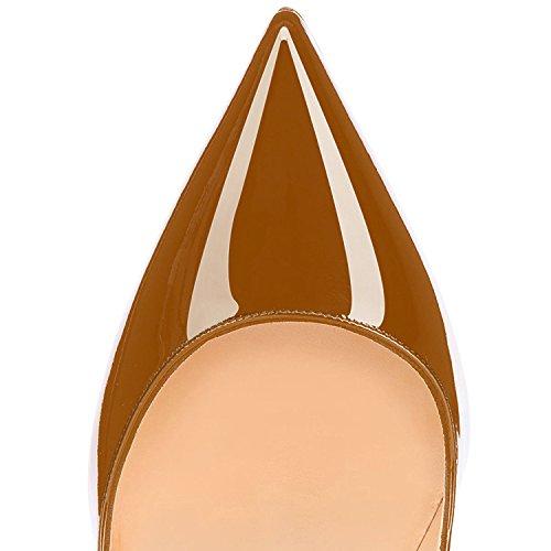 col A marrone Scarpe Classiche Tacco Donna Scarpe Scarpe col uBeauty Tacco da BpPwqI