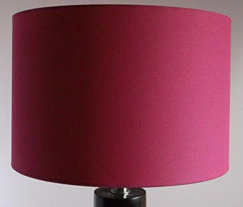 Lampenschirm rund, 30/30 cm, ca. 20 cm hoch, Art. 3009, reine Baumwolle (magenta), für E14 & E27 geeignet