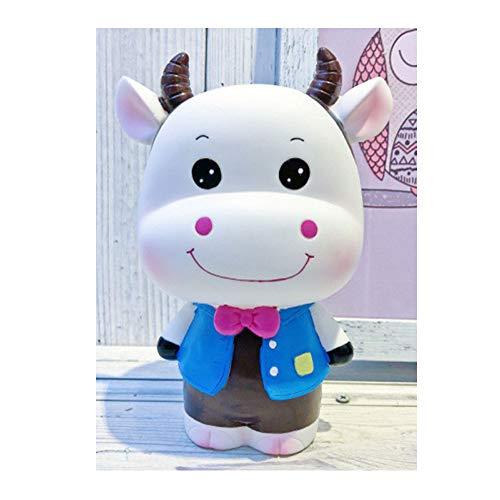 BS-piggy bank-6 Dibujos Animados Super Lindo Becerro alcancía Vaca alcancía niños creativos Regalo de cumpleaños