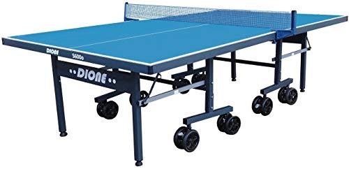 Dione Tischtennisplatte S600o Outdoor - 6mm top - Tischtennistisch Blau TT-Platte klappbar für draußen - 95{aefe5cf37ffd60fff4ac27623c76b069c342868be169a10a3c8579c4c3170fe2} Vormontiert