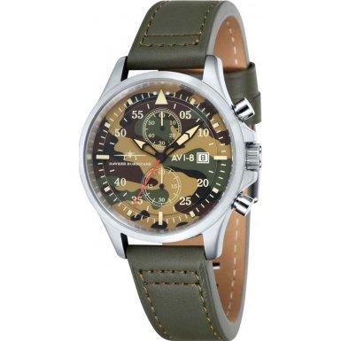 AVI-8Montre bracelet Mixte Chronographe Quartz Cuir Hawker Hurricane–AV 4013–08