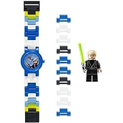 Reloj modificable infantil de Luke Skywalker de LEGO Star Wars 8020356 con pulsera por piezas y figurita