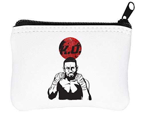 Boxing KO Design Reißverschluss-Geldbörse Brieftasche Geldbörse (Kleine Boxing Wraps)