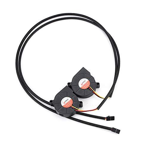 FYSETC Prusa i3 MK3 Kühler 5015 50 x 50 mm 5 V DC 0,35 A Hotend Kühlerbläser Hülse Lager für 3D-Drucker Teile, Zubehör, 2 Stück