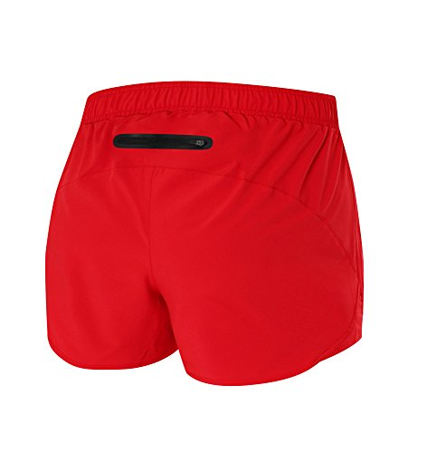 TCA-Womens-Pulse-Lightweight-Running-Short-with-Zipped-Pocket-High-Risk-Red-XS