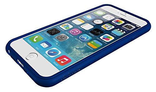 Diztronic IP6-FM-BLK Vollmatte flexible TPU Schutzhülle für Apple iPhone 6/6S schwarz Matte Blue