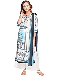 Kashish By Shoppers Stop Womens Round Neck Printed Palazzo Suit