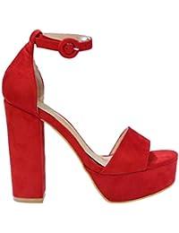 affb6a43 sandalias tacon alto - Sandalias de vestir / Zapatos para ... - Amazon.es