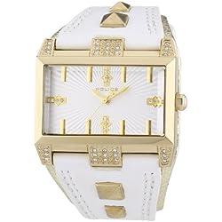 Police Damen-Armbanduhr ELEVATION Analog Quarz Leder P13662JSG-04