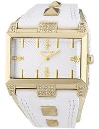 Police PL.13662JSG-04 - Reloj analógico de cuarzo para hombre con correa de piel, color blanco