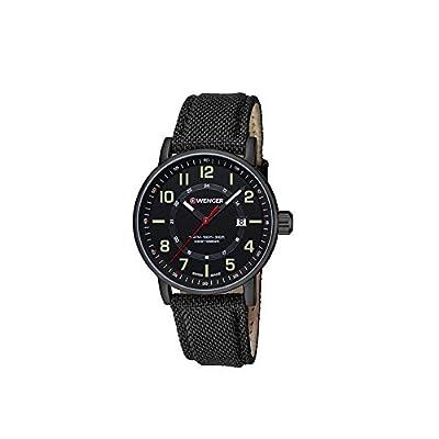 Wenger Unisex Reloj de pulsera analógico cuarzo piel 01.0341.111 de WENGER