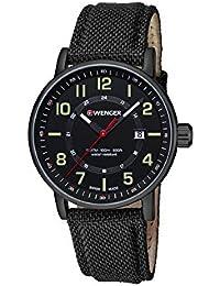WENGER Unisex-Armbanduhr Analog Quarz Leder 01.0341.111