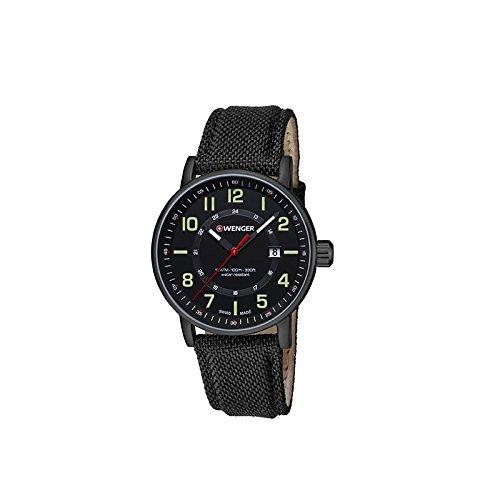 Wenger Unisex Analog Quarz Uhr mit Stoff Armband 01.0341.111